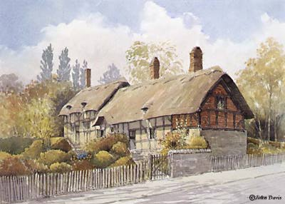 Anne Hathaway's Cottage - A Watercolour by John Davis ©
