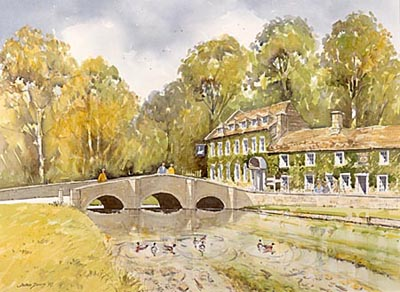 Local hotel - a watercolour by John Davis©