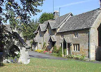 Typical local cottages near Chipping Campden