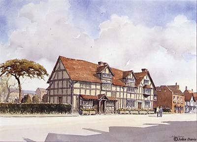 Shakespeare's Birthplace - A Watercolour by John Davis ©
